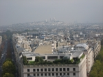Paris as seen from the top of the Arc de triomph
