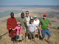 Maasai tribesman and Jedda our guide join us overlooking Ngorongoro crater