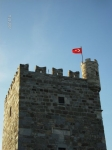 Bodrum castle tower built by crusaders in the 12th century. Now home to Bodrum's underwater archeology museum