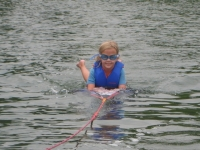 Cami waterskiing with the Grimes, Knoxville Tennessee