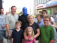 After the blue man group show in chicago