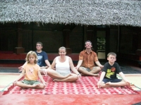 Boesch Family Yoga, Varkala India  December 12, 2007