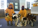 Cami and Joey get a taste of the cold at The Australia Museum of Antarctic Exploration. Hobart Tasmania Feb 22