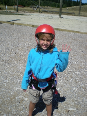 Cami gets ready for Rock-n ropes