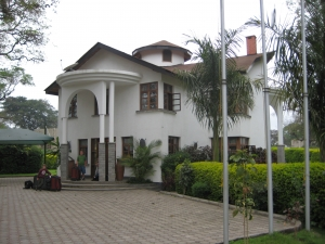 The Ambassadors Palace in Arusha Tanzania (our home for 6 hours!)